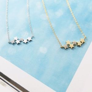 Cubic Star Rhea Necklace - Gold or Silver Plated